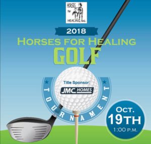 2018 Horses for Healing Golf Tournament. Thank you to our Title Sponsor, JMC Homes!